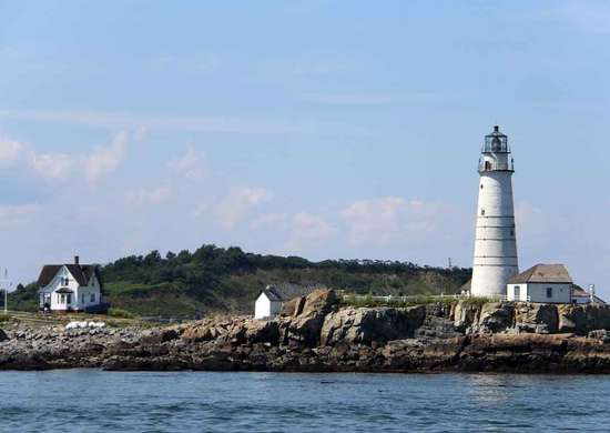 Lovells Island at Boston Harbor Islands National and State Park in Massachusetts