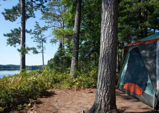 Lewey Lake State Campgrounds at the Adirondack in New York