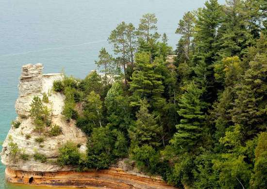 Little Beaver Lake Campground at Pictured Rocks National Lakeshore in Michigan