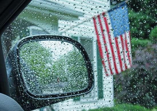 Flag Etiquette Rain