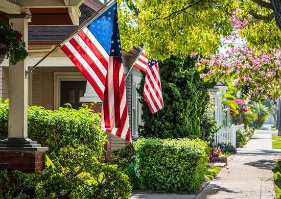 US Flag Position