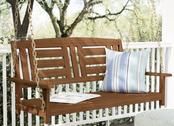 Langley Street Arianna Hardwood Porch Swing