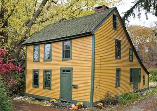 Yellow Saltbox House
