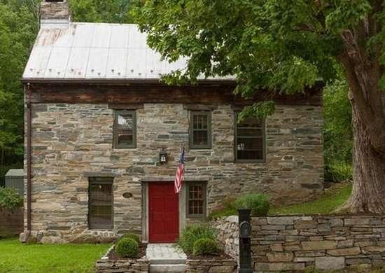 Stone Saltbox House