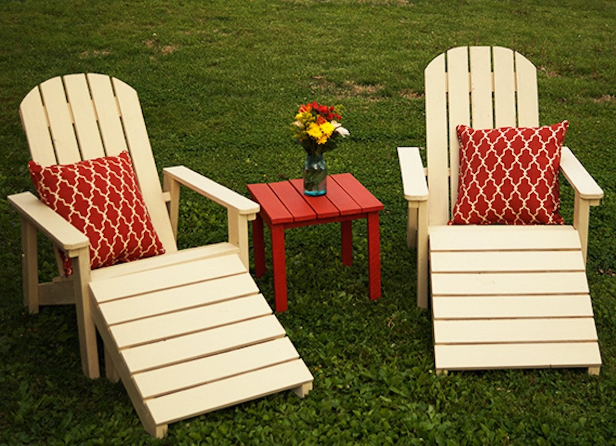 making your own adirondack chairs | DIY Outdoor Furniture - 10 Easy Projects - Bob Vila