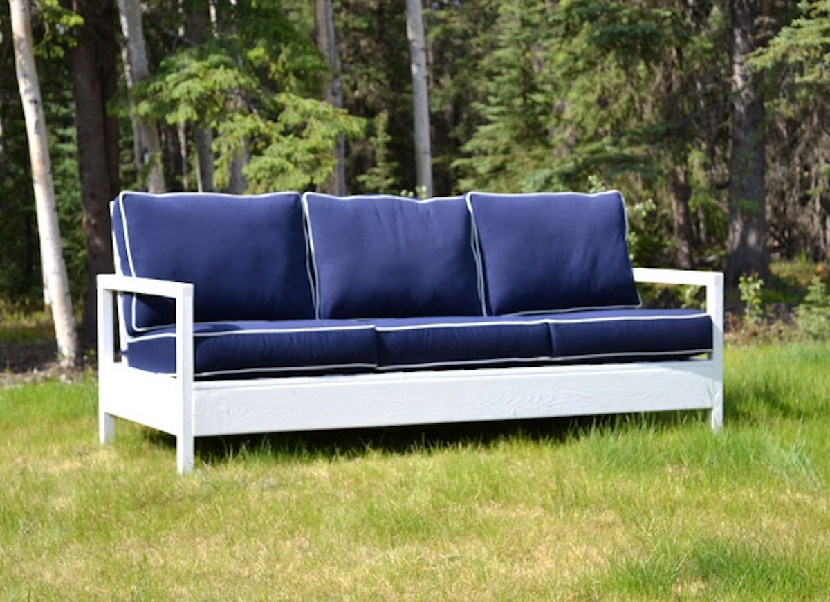 diy outdoor furniture couch cheap build simple yet elegantly modern outdoor bench on the cheap for only around 30 in lumber blogger ana white recreated restoration hardware sofa for diy outdoor furniture 10 easy projects bob vila