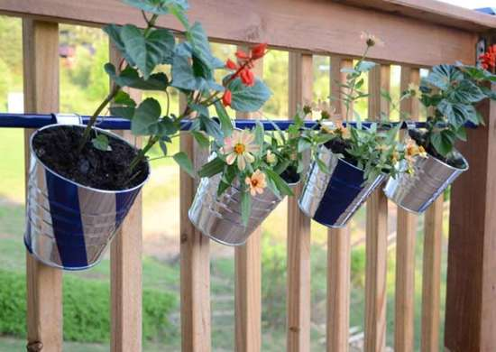 DIY Flower Pot for Deck