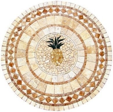 Uniquestylesolutions pineapplemulticolormosaictabletop