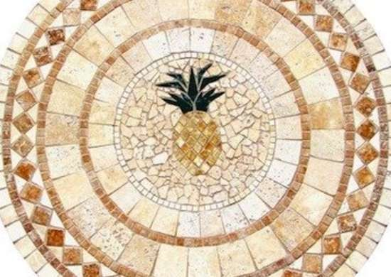 Uniquestylesolutions-pineapplemulticolormosaictabletop