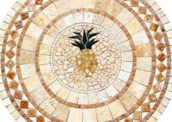 Uniquestylesolutions pineapplemulticolormosaictabletop