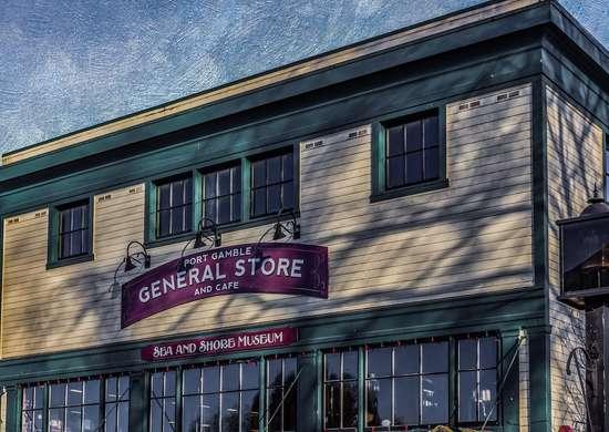 Port Gamble General Store in Port Gamble, Washington