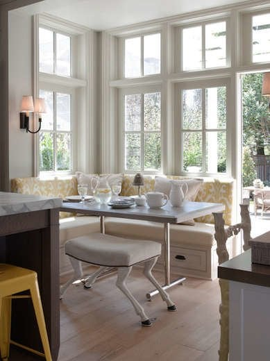 White and Yellow Breakfast Nook