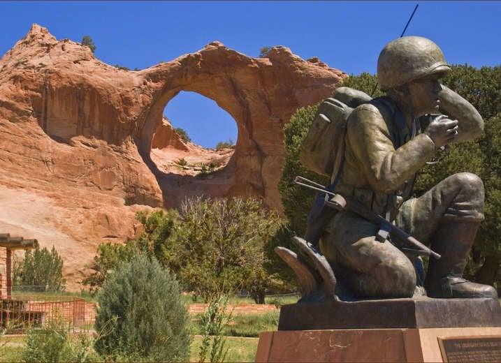 Navajo Code Talkers Memorial, Window Rock, Arizona