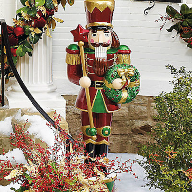Frontgate large outdoor nutcrackerwithledwreath