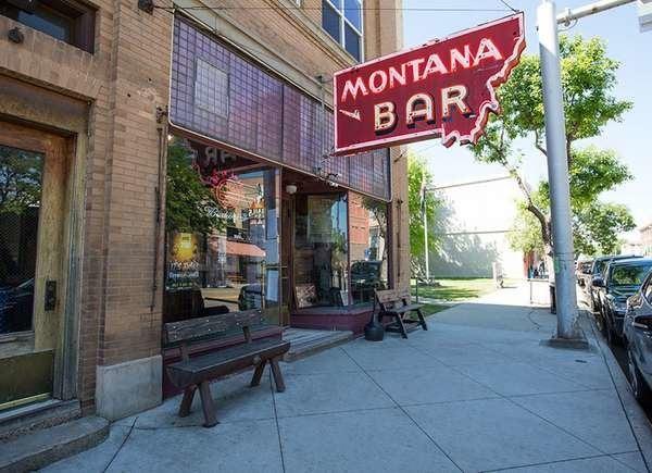 The Historic Montana Bar in Miles City, Montana