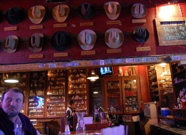 Inside the White Elephant Saloon