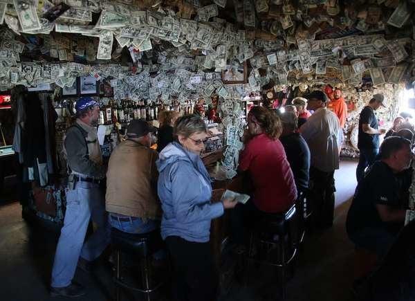 Inside the Salty Dawg Saloon