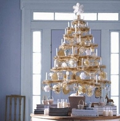 Marthastewart hometraditions tan feathertree with pearl berries