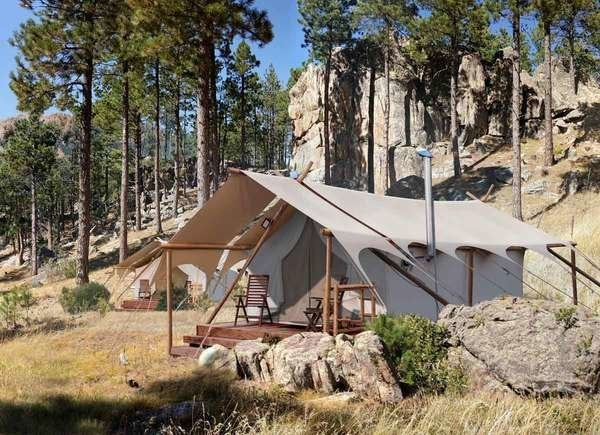 Under Canvas in Mount Rushmore