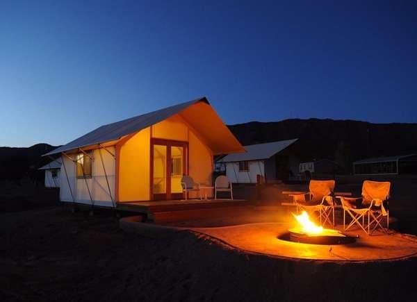 Glamorous Tents at the Royal Gorge Cabins, Colorado