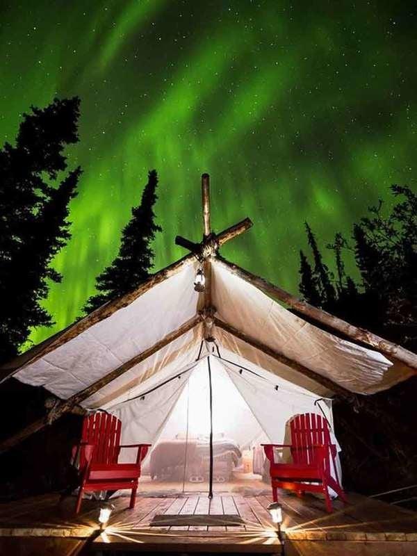 Alpenglow Luxury Camping in Alaska
