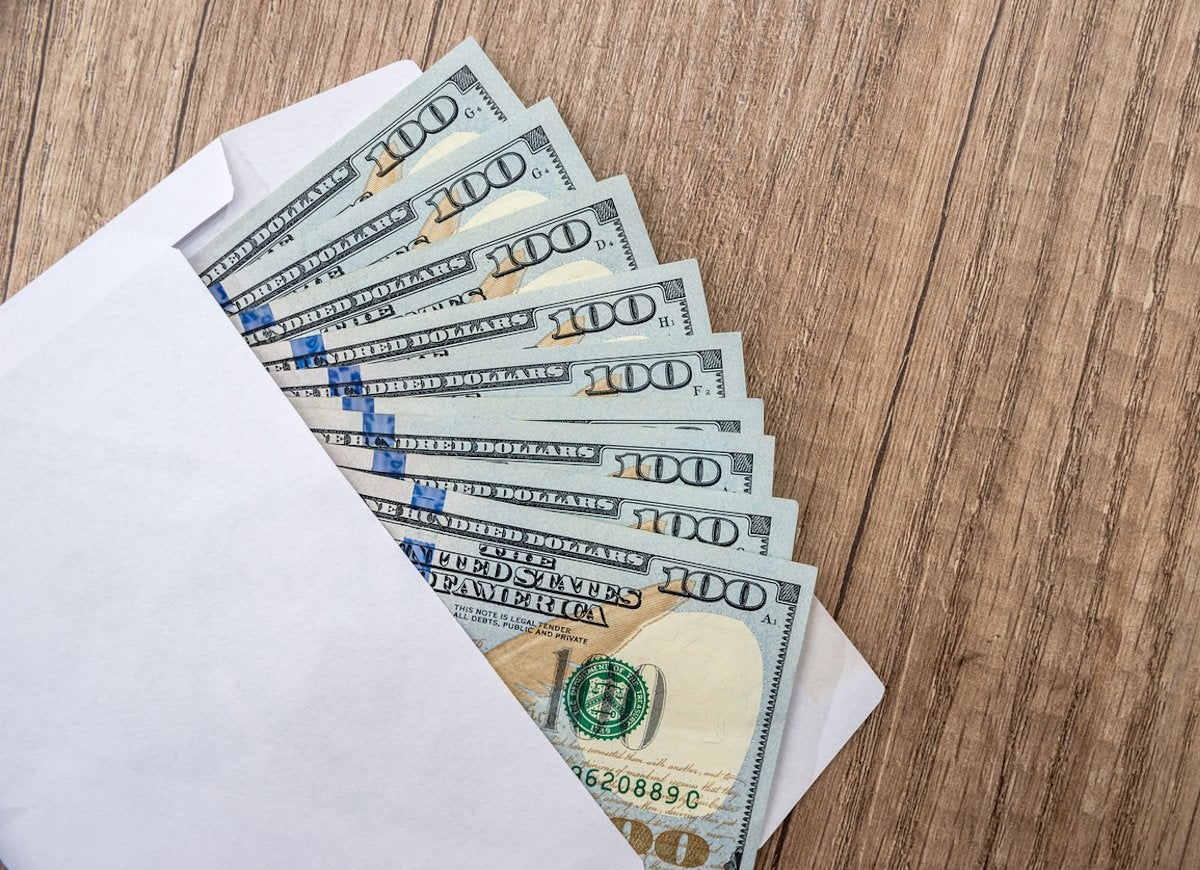 Is it ok to send cash in the mail