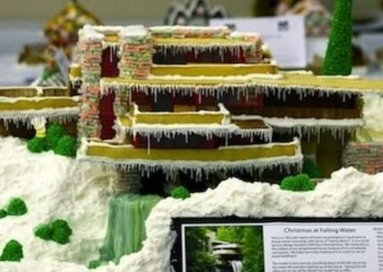 Falling Water Gingerbread House