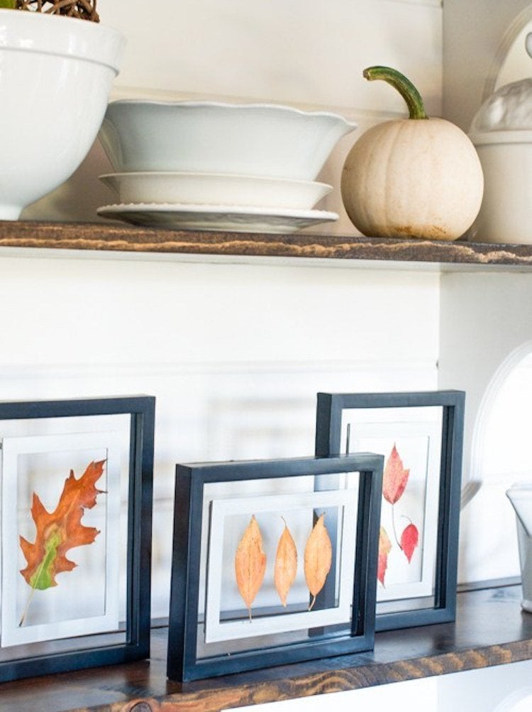 For a striking autumn mantel or wall