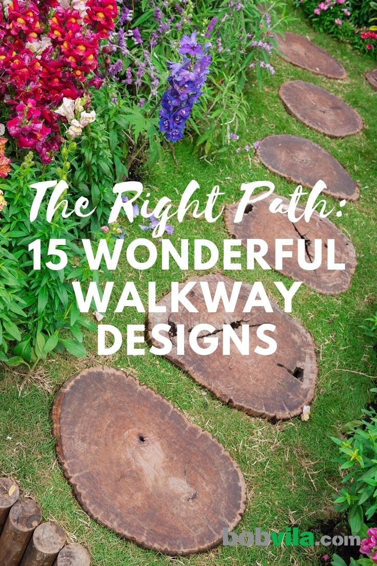 So many great ideas for walkways\u2014it\u0027s hard to pick just one. & Walkway Ideas - 15 Ideas for Your Home and Garden Paths - Bob Vila