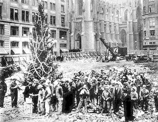 First rockefeller christmas tree ny
