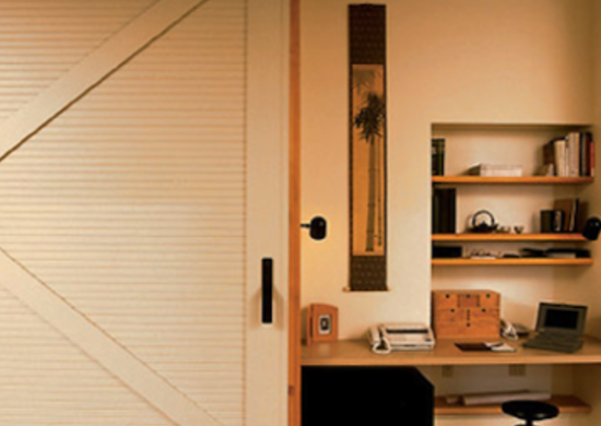 Barn door ideas 10 home design inspirations bob vila for Hidden home office ideas
