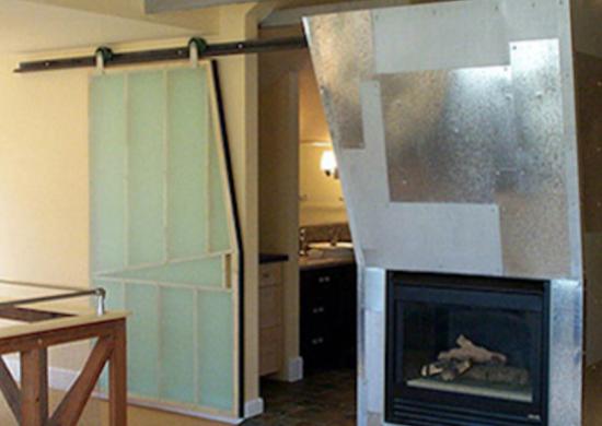 Transparent Barn Door