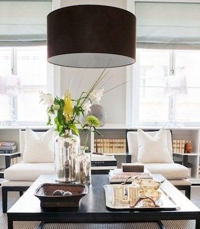Cococozy skonahem livingroomwith blackdrumpendantlight
