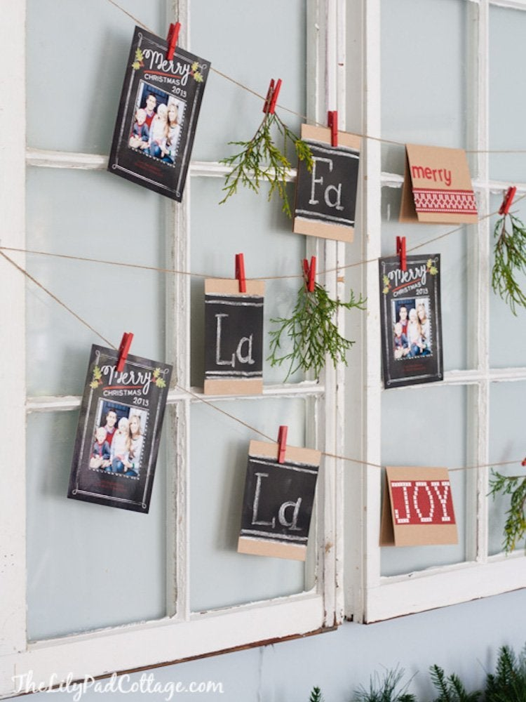 20 Unique Ways to Display Holiday Cards