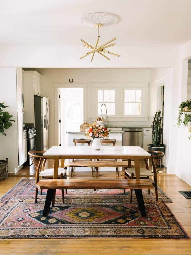 Placing A Rug Under The Table Can Provide A Visual Anchor In A Dining Room.  Particularly In An Open Floor Plan, A Rug Helps Define The Dining Space And  ...