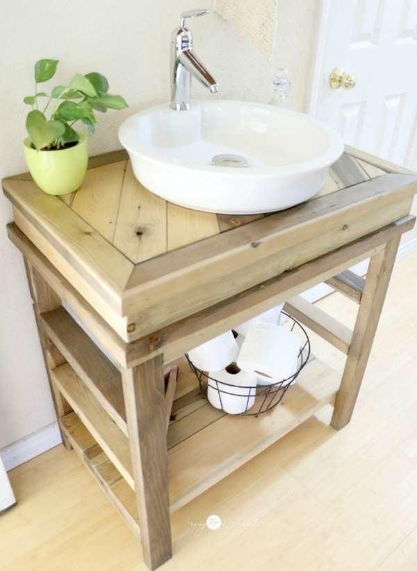 DIY Bathroom Vanity - 12 Bathroom Rehabs - Bob Vila