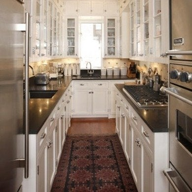 galley kitchen design ideas 16 gorgeous spaces bob vila. Black Bedroom Furniture Sets. Home Design Ideas