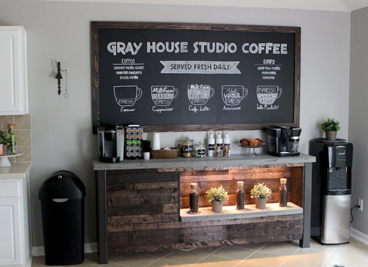 DIY Coffee Bar - Perk Up Your Home Design - Bob Vila