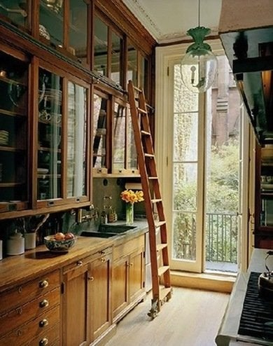 Thatu0027s What Makes A Library Ladder Among The Very Best Galley Kitchen Ideas.  Besides Providing Practical Value, A Ladder Can Look Great Too, Especially  If ...