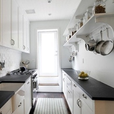 Turning A Dark Cramped Cooking Area Into A Light Airy Kitchen Is No Easy Feat Diy By Add Accomplished This With A Galley Kitchen Design That Entirely