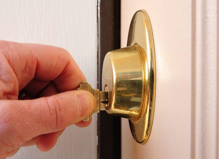 Locking a deadbolt