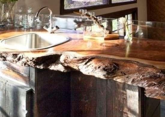 Custom redwood top bar bc