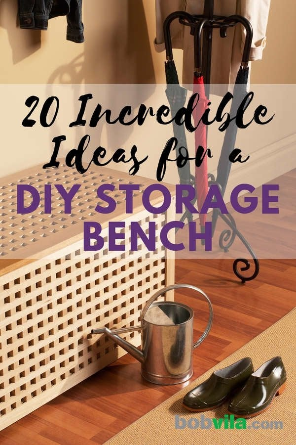 Phenomenal 20 Diy Storage Benches You Can Make Bob Vila Creativecarmelina Interior Chair Design Creativecarmelinacom