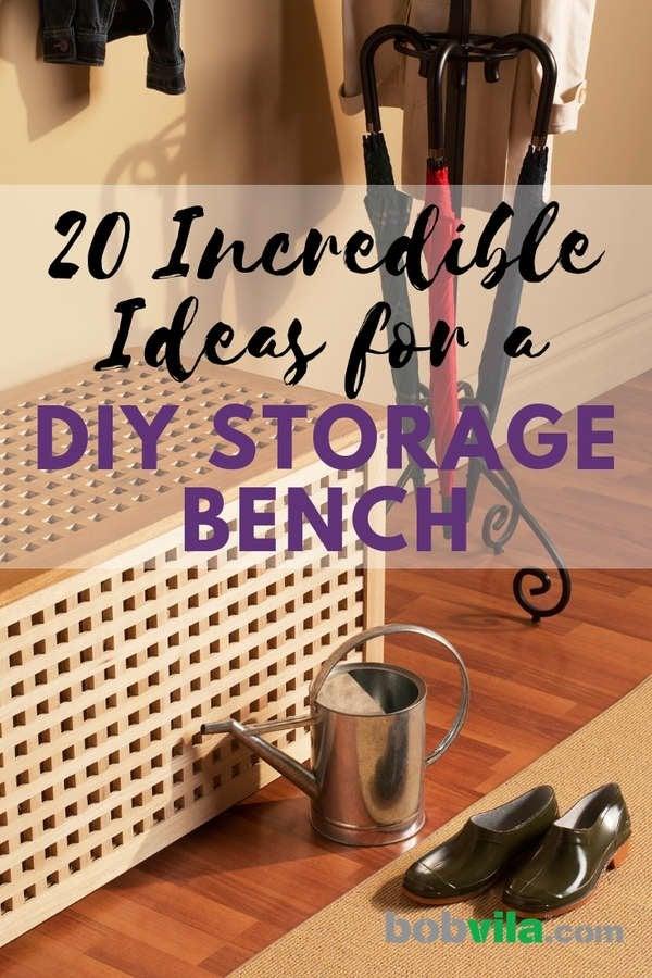 Super 20 Diy Storage Benches You Can Make Bob Vila Machost Co Dining Chair Design Ideas Machostcouk