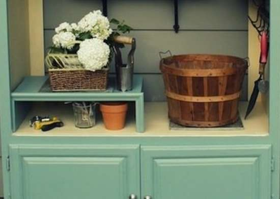 Garden Shelf Repurposing Armoires Armoire DIY Projects 13