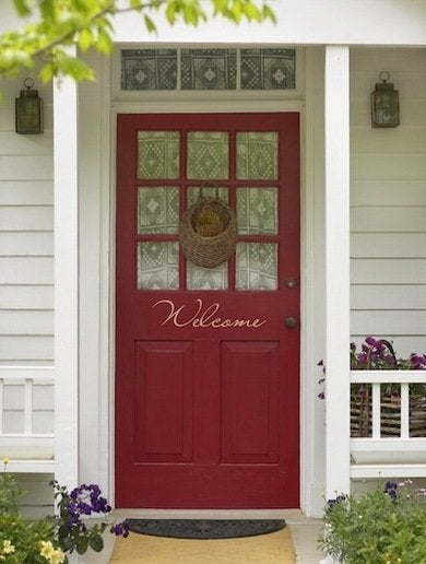 Red front door polkadotthroughts