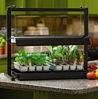 Gardenerssupply compact tabletop sunlite jumpstartkit rev