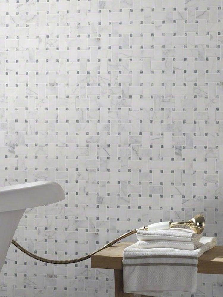 Basketweave Shower Tile Ideas