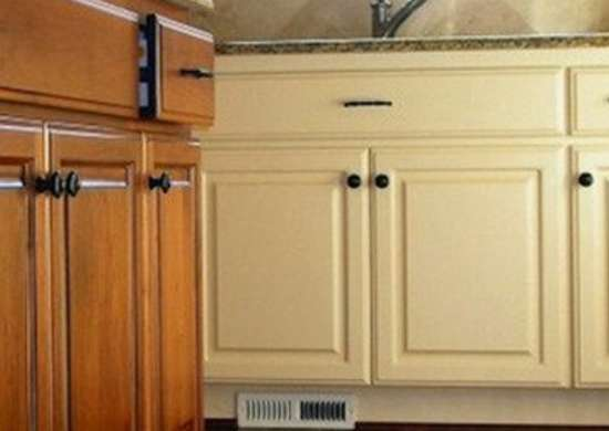 Painted and stained kitchencabinets goeltom rev
