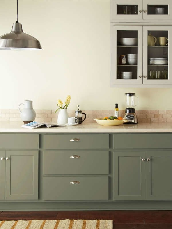 14 Kitchen Cabinet Colors That Feel Fresh | Bob Vila - Bob Vila on kitchen cabinet design ideas, dining room color ideas, small kitchen design ideas, gray kitchen ideas, behr color studio, family room paint color ideas, behr pale yellow kitchen, behr kitchen colors with names, behr interior colors for a comfortable home 2013, behr gray colors for a kitchen, behr color wheel chart,
